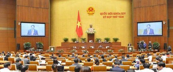 Các đại biểu Quốc hội tại phiên thảo luận
